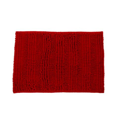 GRAFFE พรมเช็ดเท้าไมโครไฟเบอร์ ขนาด 40*60cm ขนสั้น 1.3cm  ROMAN RD สีแดง