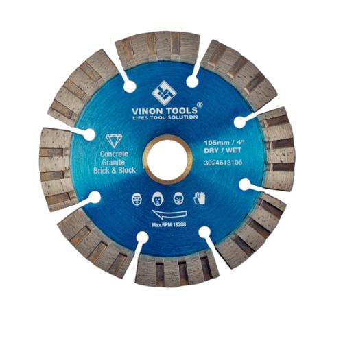 VINON TOOLS ใบตัดเพชร TURBO 4นิ้ว VSL4