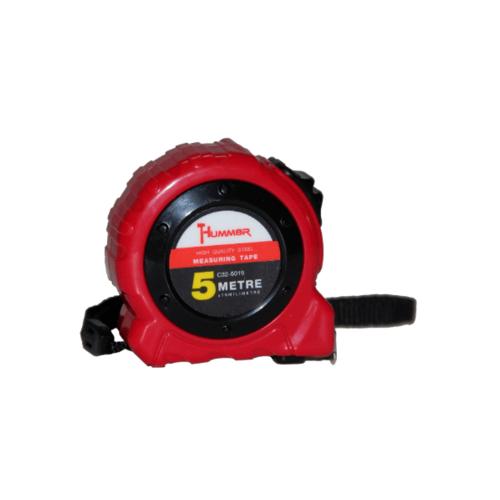 HUMMER  ตลับเมตร 5เมตร  C32-5019 สีแดง