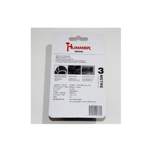 HUMMER ตลับเมตร 3เมตร  C43-3016 สีดำ