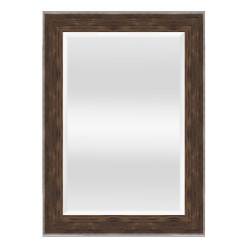 NICE กระจกเงามีกรอบ สีลายไม้ ขนาด 60x90 cm.  1091-WK-137ST