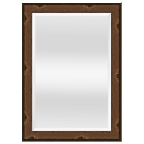 NICE กระจกเงามีกรอบ สีลายไม้ ขนาด 60x90 cm 6107-71387T