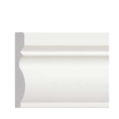 GREAT WOOD บัวพื้น  ขนาด 80x11.5x2900mm.  JC195-W1  สีขาว