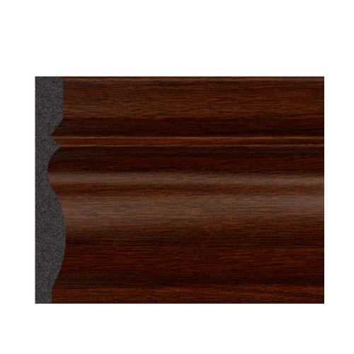 GREAT WOOD บัวพื้น JC195-3 สีวอลนัท 80x11.5x2900mm. GREATWOOD JC195-3 สีน้ำตาลเข้ม