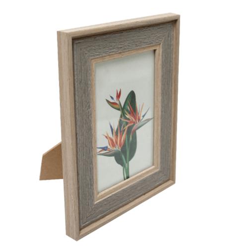COZY กรอบรูป ขนาด 4x6นิ้ว ลายไม้ สี Grey wood