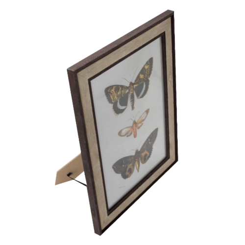 COZY กรอบรูป ขนาด A4 ลายไม้ สีWood with dark edge  ไม้ธรรมชาติ