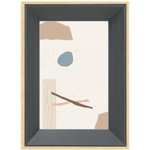 COZY กรอบรูป ขนาด 4x6นิ้ว โมเดิร์น สี Dark grey with wooden edge