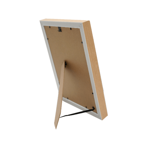 COZY กรอบรูป ขนาด A4  โมเดิร์น สีGrey with wooden edge
