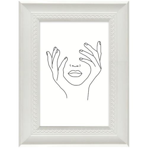 COZY กรอบรูป ขนาด 4x6นิ้ว  โมเดิร์น สีขาว