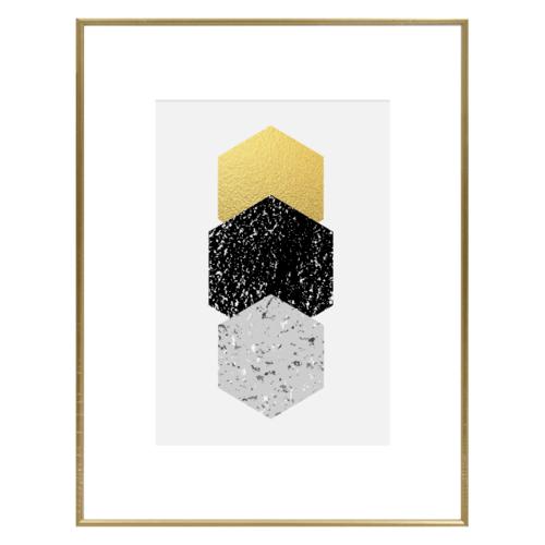 COZY กรอบรูป ขนาด 4x6นิ้ว  เมทัลลิค สีทอง