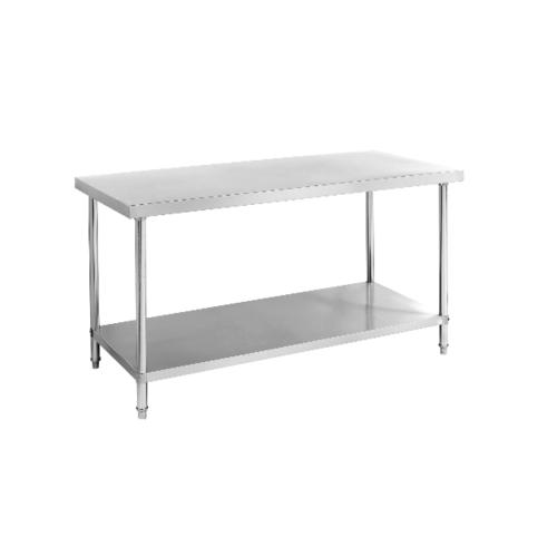 CROWN โต๊ะเตรียมสเตนเลส 2 ชั้น ขนาด 150*70*80 ซม. S001-15070TBC