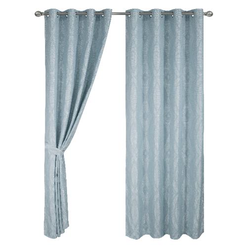 Davinci ผ้าม่านประตู ขนาด150x250ซม.   Ligte สีฟ้า