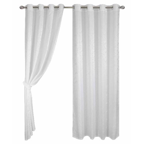 Davinci ผ้าม่านประตู  150x250ซม.  Berde - สีขาว