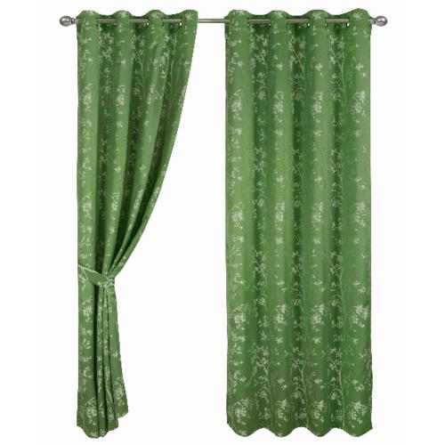 Davinci ผ้าม่านหน้าต่าง ขนาด 150x160ซม.  Glas สีเขียว