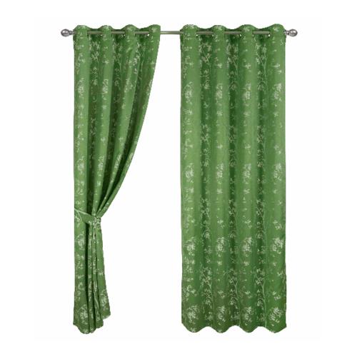 Davinci ผ้าม่านประตู ขนาด 150x250ซม.   Glas  สีเขียว