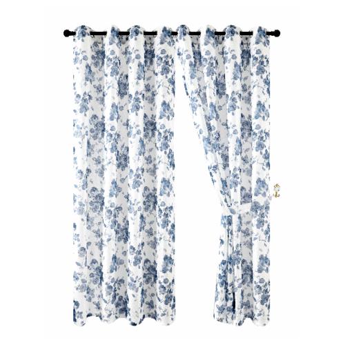 Davinci ผ้าม่านประตู  150x250ซม.   Cinzento สีฟ้า