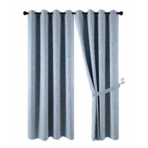 Davinci ผ้าม่านประตู  150x250ซม.   Preto  สีฟ้า