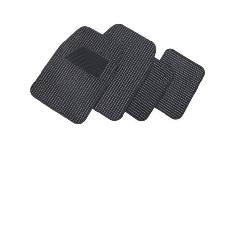 Cover พรมผ้าปูพื้นรถยนต์ ชุด 4 ชิ้น  CM02BLK สีดำ