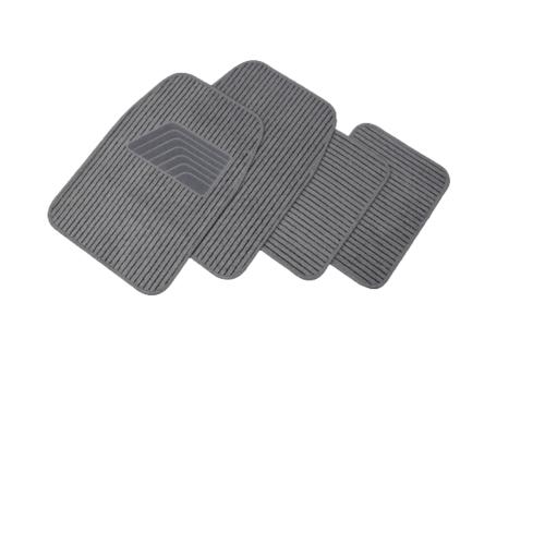 Cover พรมผ้าปูพื้นรถยนต์  ชุด 4 ชิ้น  CM02GRY สีเทา