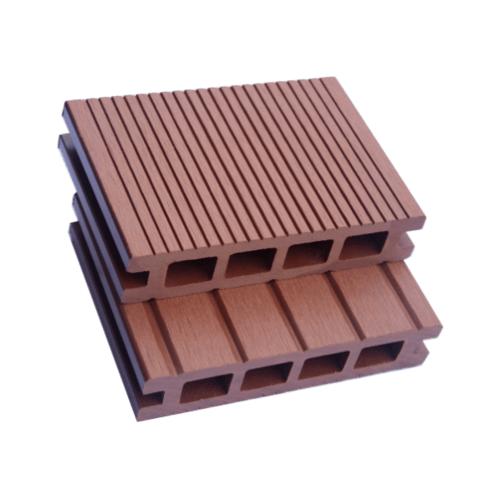 GREAT WOOD ไม้พื้นเทียม K30-140RW สีไม้แดง ขนาด 30x140x2800มม.(กลวง) K30-140RW สีน้ำตาลเข้ม