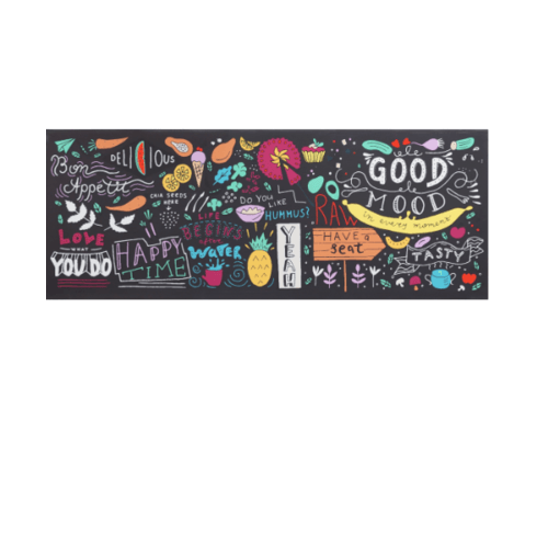 NICE รูปภาพพิมพ์ผ้าใบ Restaurant ขนาด  94x36ซม. (ก.xส.) (Good Mood , Happy time) C9436-5
