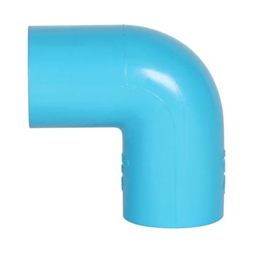 VAVO ข้องอ 90  หนา ขนาด 1/2นิ้ว  สีฟ้า