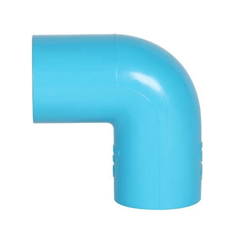 VAVO ข้องอ  90 หนา ขนาด 1นิ้ว  สีฟ้า