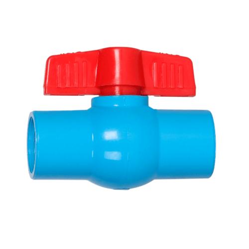 VAVO บอลวาล์วพีวีซี แบบมีเกลียว  2นิ้ว สีฟ้า