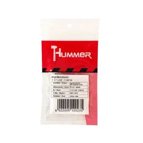 HUMMER สกรูเกลียวปล่อยหัว 7x5/8นิ้ว (25ตัว/แพ็ค)  F-HM758 สีโครเมี่ยม