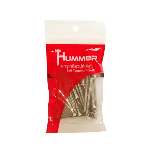 HUMMER สกรูเกลียวปล่อยหัว 7x2นิ้ว (25ตัว/แพ็ค F-HM720 สีโครเมี่ยม