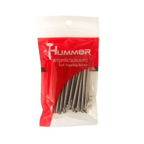 HUMMER สกรูเกลียวปล่อยหัว 8X2-3/4นิ้ว (25ตัว/แพ็ค) F-HM8234 สีโครเมี่ยม