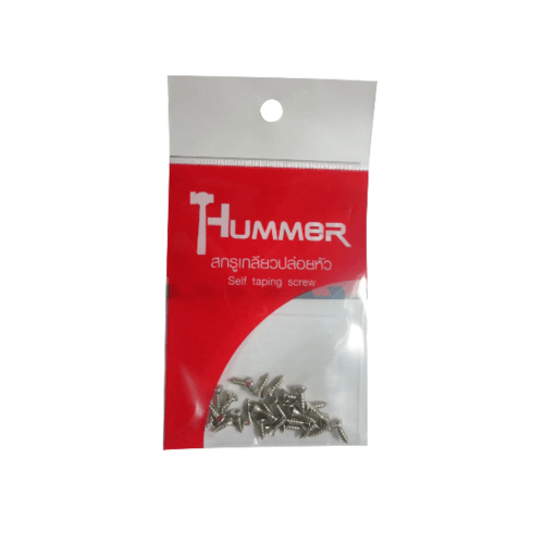 HUMMER สกรูเกลียวปล่อยหัว 4x3/8นิ้ว (25ตัว/แพ็ค)  F-HM438 สีโครเมี่ยม
