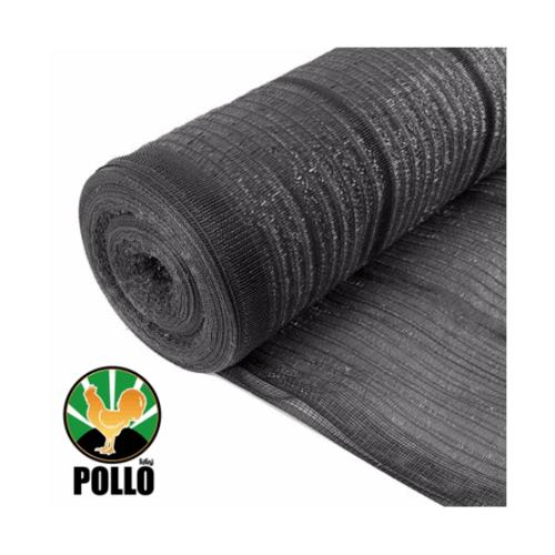 POLLO สแลนท์ HDPE 80% ขนาด 2x100 เมตร (14ก.ก./ม้วน) SH1208-70  สีดำ