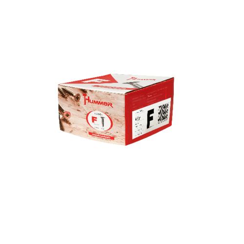HUMMER สกรูเกลียวปล่อยหัว  7x1นิ้ว (1000ตัว/กล่อง) F-HM710  สีโครเมี่ยม