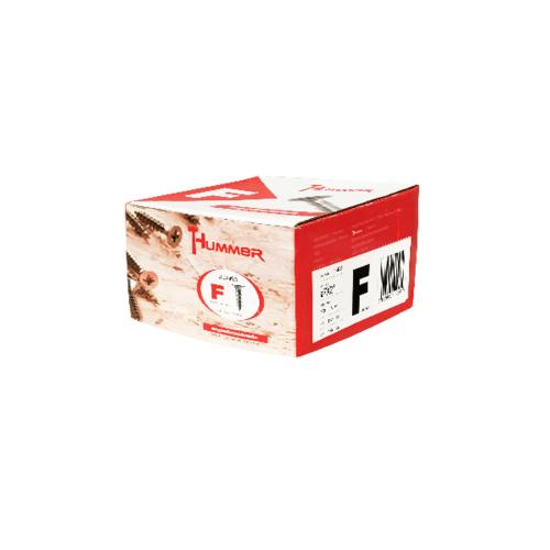 HUMMER สกรูเกลียวปล่อยหัว 7x2นิ้ว (500ตัว/กล่อง) F-HM720 สีโครเมี่ยม