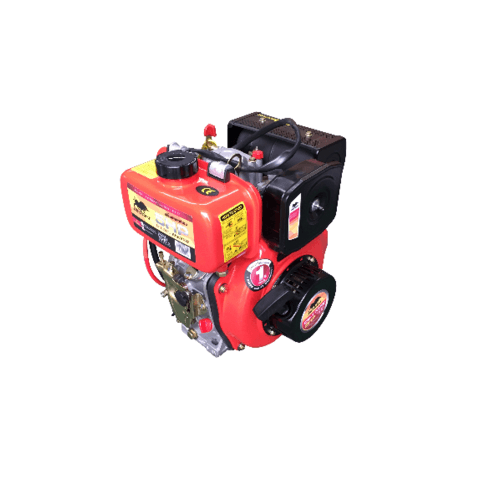 BISON เครื่องยนต์ดีเซล 5HP DE-170FE สีแดง