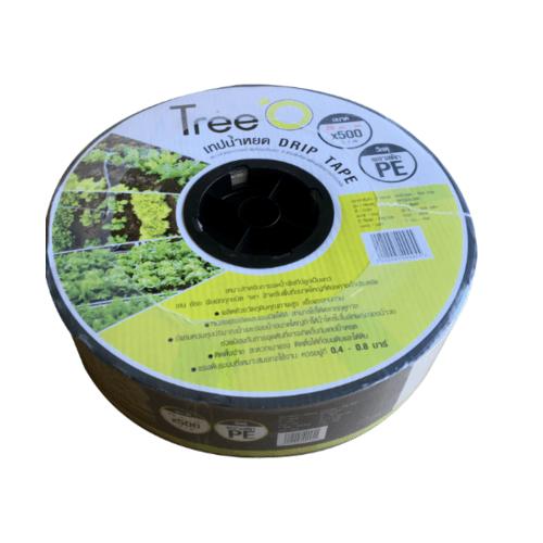 Tree O เทปน้ำหยด  ขนาด 20x500M 2L/h DP1820 สีดำ