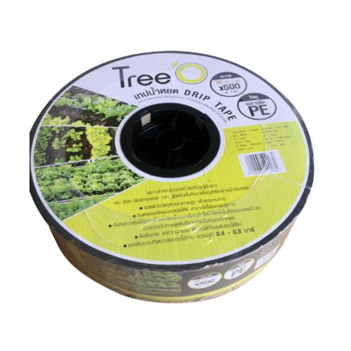 Tree O เทปน้ำหยด  ขนาด 30x500M 2L/h DP1830 สีดำ