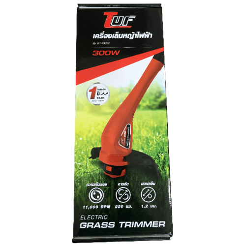 TUF เครื่องเล็มหญ้าไฟฟ้า 300W  GT-7A202  สีส้ม