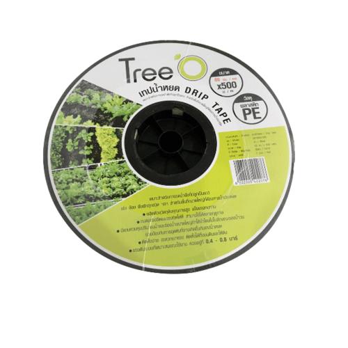 Tree O เทปน้ำหยด ขนาด 60x500M 3L/h  DP1860 สีดำ