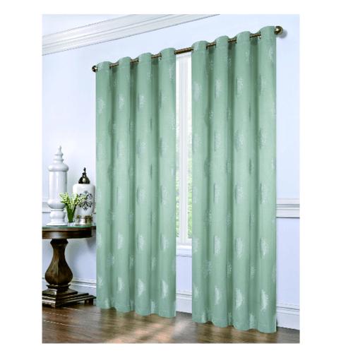 Davinci ผ้าม่านประตู ขนาด 150X250ซม. BC-010-03-DGN  สีเขียว