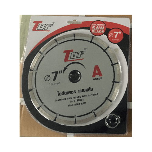 TUF ใบตัดเพชร แบบแห้ง DTSB281 7นิ้วx2.2x25.4-22.23mm เกรด A ใบตัดเพชร แบบแห้ง DTSB281 7นิ้วx2.2x25.4-22.23mm เกรด A