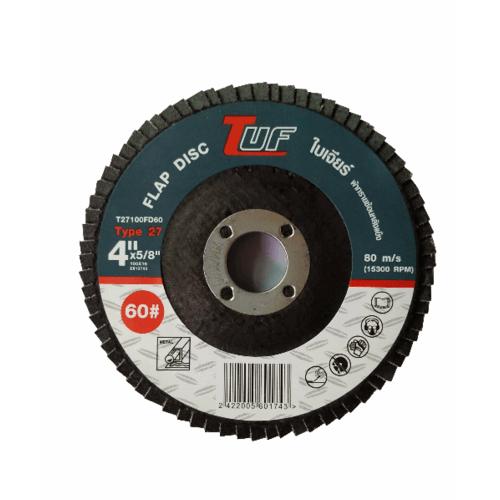 TUF  ใบเจียร์ผ้าทรายซ้อนหลังแข็ง T27-100x16x60P