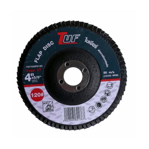 TUF  ใบเจียร์ผ้าทรายซ้อนหลังแข็ง T27-100x16x120P