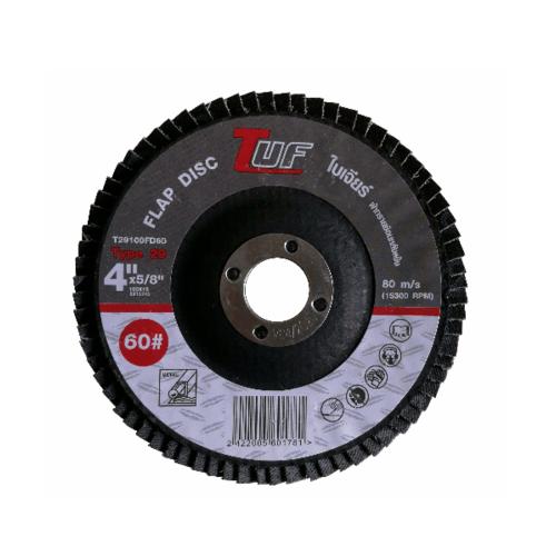 TUF  ใบเจียร์ผ้าทรายซ้อนหลังแข็ง T29-100x16x60P