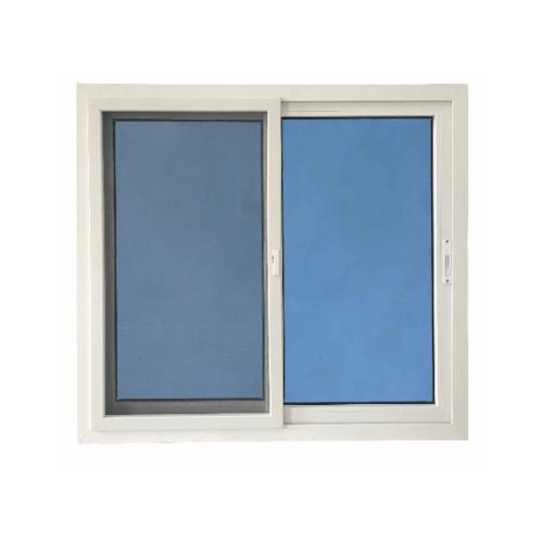 Wellingtan หน้าต่างไวนิล บานเลื่อน SS  120x110cm. (กxส) กระจกสีฟ้าสะท้อนแสง  RBW001 สีขาว