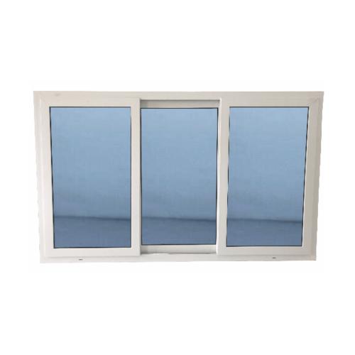 Wellingtan หน้าต่างไวนิล บานเลื่อน SFS  180x110cm. (กxส) กระจกสีฟ้าสะท้อนแสง  RBW003 สีขาว