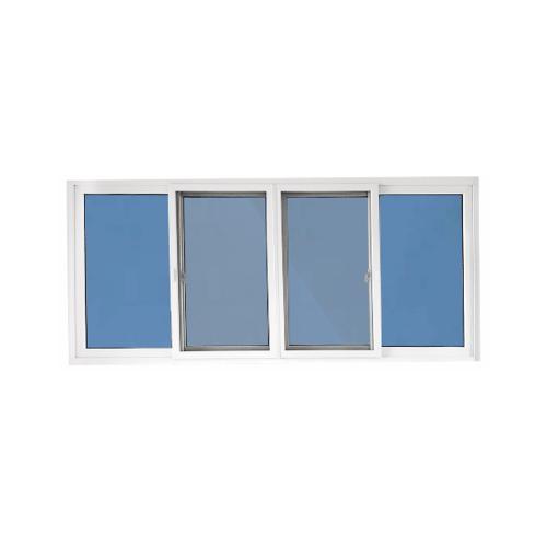 Wellingtan หน้าต่างไวนิล บานเลื่อน FSSF  240x110cm.  กระจกสีฟ้าสะท้อนแสง  RBW004 สีขาว