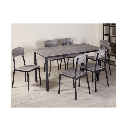 Delicato ชุดโต๊ะอาหาร 6 ที่นั่ง D01148C6 สีดำ