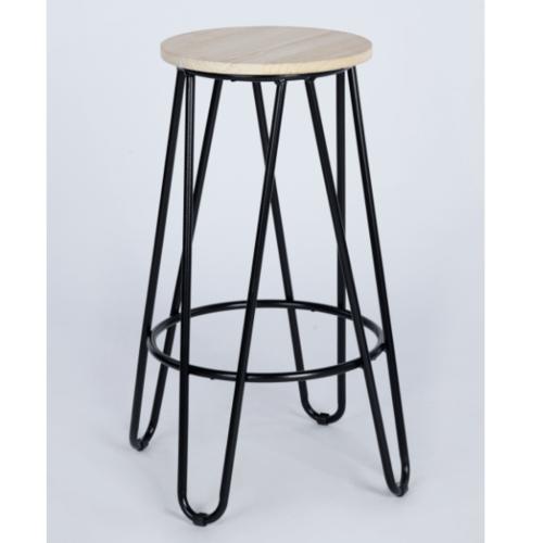Delicato เก้าอี้บาร์สตูล  Essia 64 BK สีน้ำตาล
